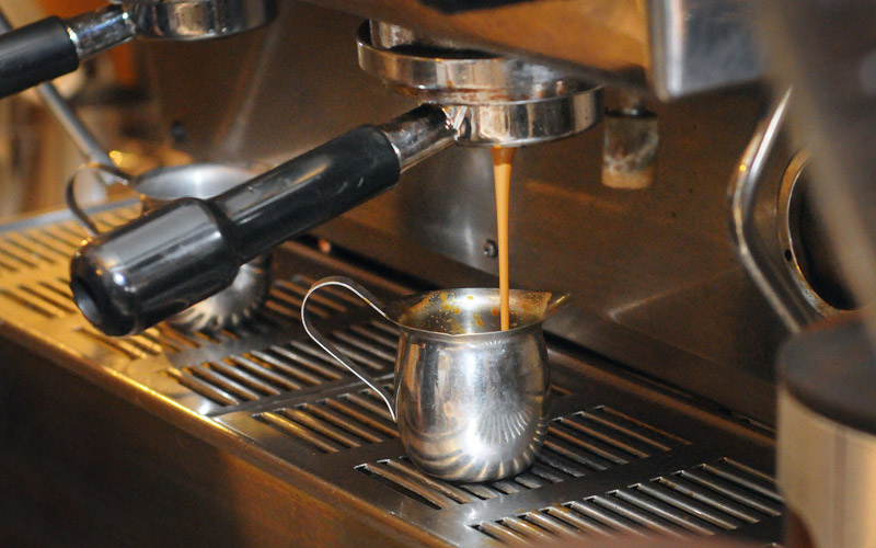 Espresso being made